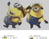 """Despicable Me 2 - Minions - 8x5"""" - 8 Colours - 6 Page Pattern/Symbols/Grid - PDF"""