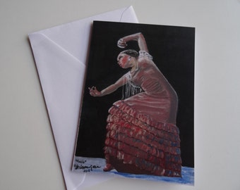Rocio - A6 greeting card of Rocio Molina, flamenco dancer