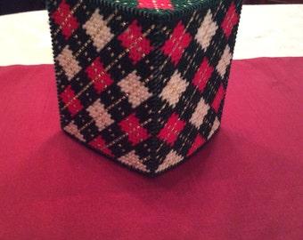 Scottish Highlander tissue box cover