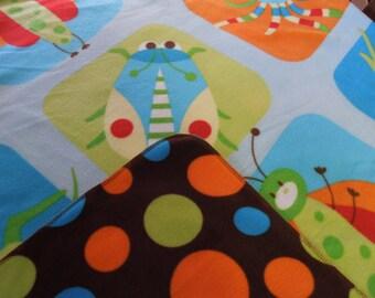 Colorful Springtime Bug Children's Anti-pill Fleece Blanket,  54  x 60