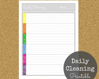 Daily Cleaning Printable