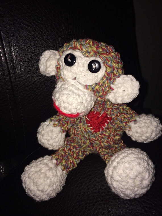 Amigurumi Monkey Etsy : Marvin the Monkey Amigurumi Crochet by TonesofHomeKy on Etsy
