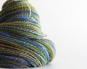 """DOUBLES:  Sport weight handspun yarn. 390 yds. maude&me Perendale in """"Boxcar""""."""