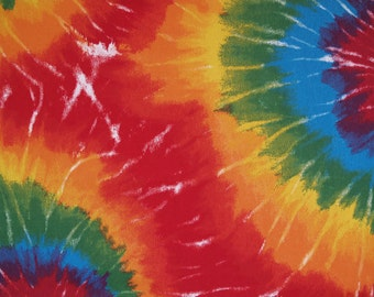 TIE DYED Premier Prints fabric By The Yard Orange, Red, Yellow, Blue or Lime/Aqua Decorator fabric