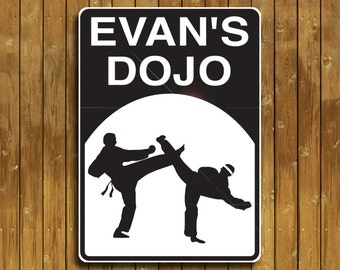 Personalized Karate sign