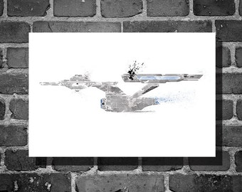 Star Trek poster USS Enterprise vehicle movie poster minimalist poster star trek
