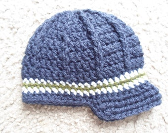 Textured Newsboy Hat.  Sizes Newborn, 0-3 mths, 3-6 mths, 6-9 mths, 9-12 mths.