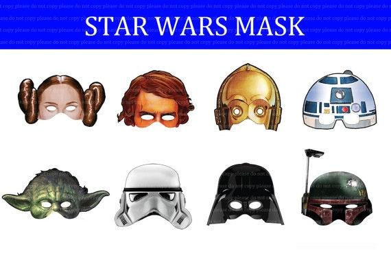 INSTANT DL   Star Wars Maske Geburtstag Party   Druckversion
