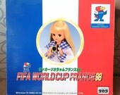 Takara Licca Made in Japan  FIFA World Cup France 98 Travel Gift Set NRFB  RARE