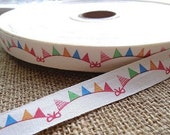 "Decorative fabric ribbon ""Party"" (per meter)"