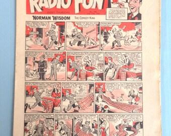 "Vintage July 11th 1953 ""Radio Fun"" comic"