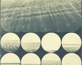 The Sea Yesterday, original fine art photography, print, edinburgh, abstract, circle, geometry, experimental, scotland, monochrome, square