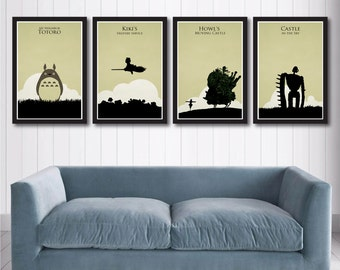 Hayao Miyazaki poster set