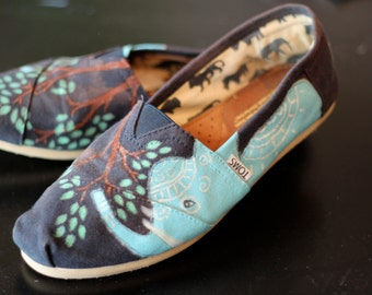 Elephant Hand Painted Toms - Any size