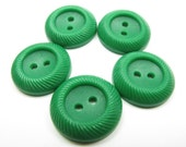 Forest Green Plastic Buttons