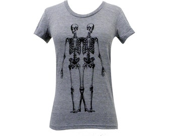 Skeleton T-Shirt - Anatomical Skeletons -  Ladies SOFT American Apparel Shirt - Available in sizes S, M, L, XL