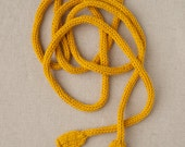 MADE TO ORDER - Knitted Power Cord - Yellow - Geek Scarf - Toy Art - Extension Cord - Necklace - Belt