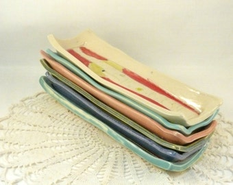Pottery Side Dish, Butter Dish, Bread Plate - Under 25 Olive Dish, Cheese Plate soap dish - pottery and ceramics, tray - rectangle plate