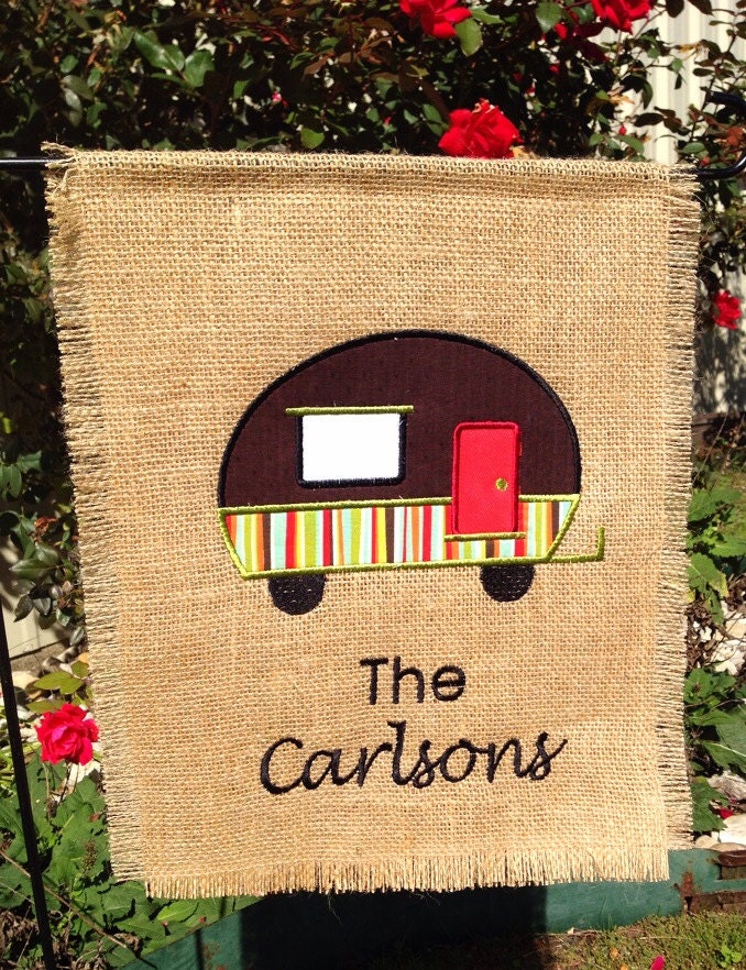 New Camping Personalized Garden Flag