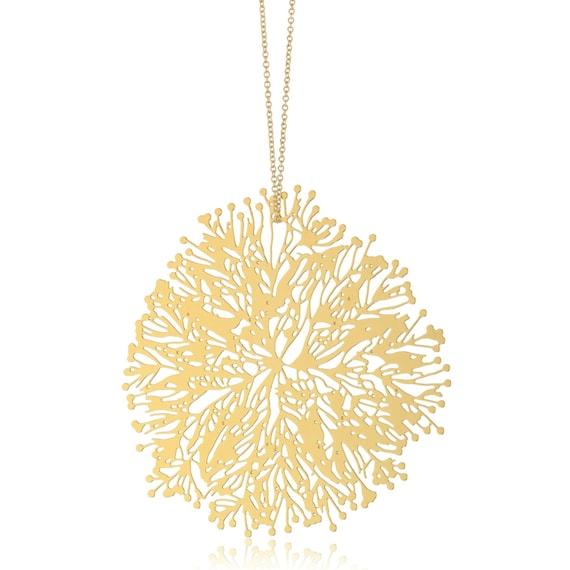 Large Algal Bloom pendant (gold)