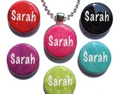 Magnetic Name Pendant - Interchangeable Pendant with 6 custom name magnets - Magnetic Jewelry, Magnetic Necklace, Personalized Pendant