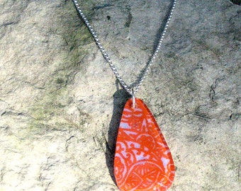 Mehndi Fused Glass Necklace