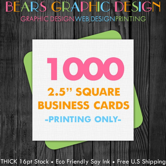 business card printing 1000 square business by