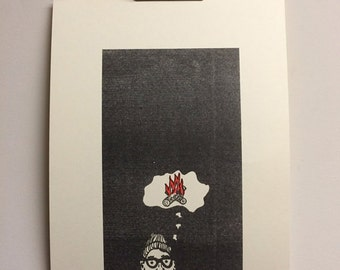 Wandering Mind - Risograph Art Print