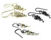 Small Wisteria Caviar Earrings-Choose Your Finish