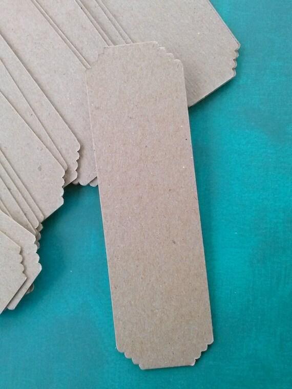 bookmark blanks, kraft chipboard, wedding favors, party favors, kid's crafts, bulk bookmarks