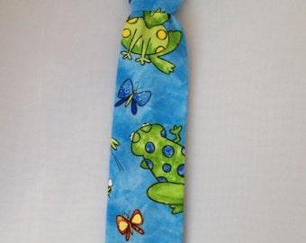 Boys Frog NeckTie  Blue, Green, Dressy, Fun, Whimsical