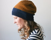 Slouchy colorblock beanie -- Abbotts Harbour slouch -- MADE TO ORDER