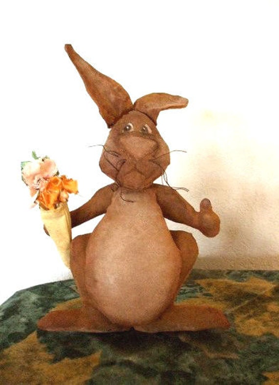 Easter Rabbit Decoration Thumbs Up Sewing Pattern Primitive PDF  Instant Download