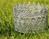 Glinda Good Witch Crown, Wizard of Oz, Halloween Crown, Queen Crown, Lace Crown, Costume Crown, Princess Crown, Prince, 5 in, 12.7 cm TAL