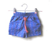 Vintage Baby Osh Kosh B' Gosh Cotton Canvas  Shorts / Royal Blue Nautical Shorts