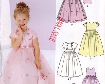 Flower girl dress capelet or shrug and purse Sewing pattern Simplicity 5638 Wedding flowergirl pattern Sz 3 to 6