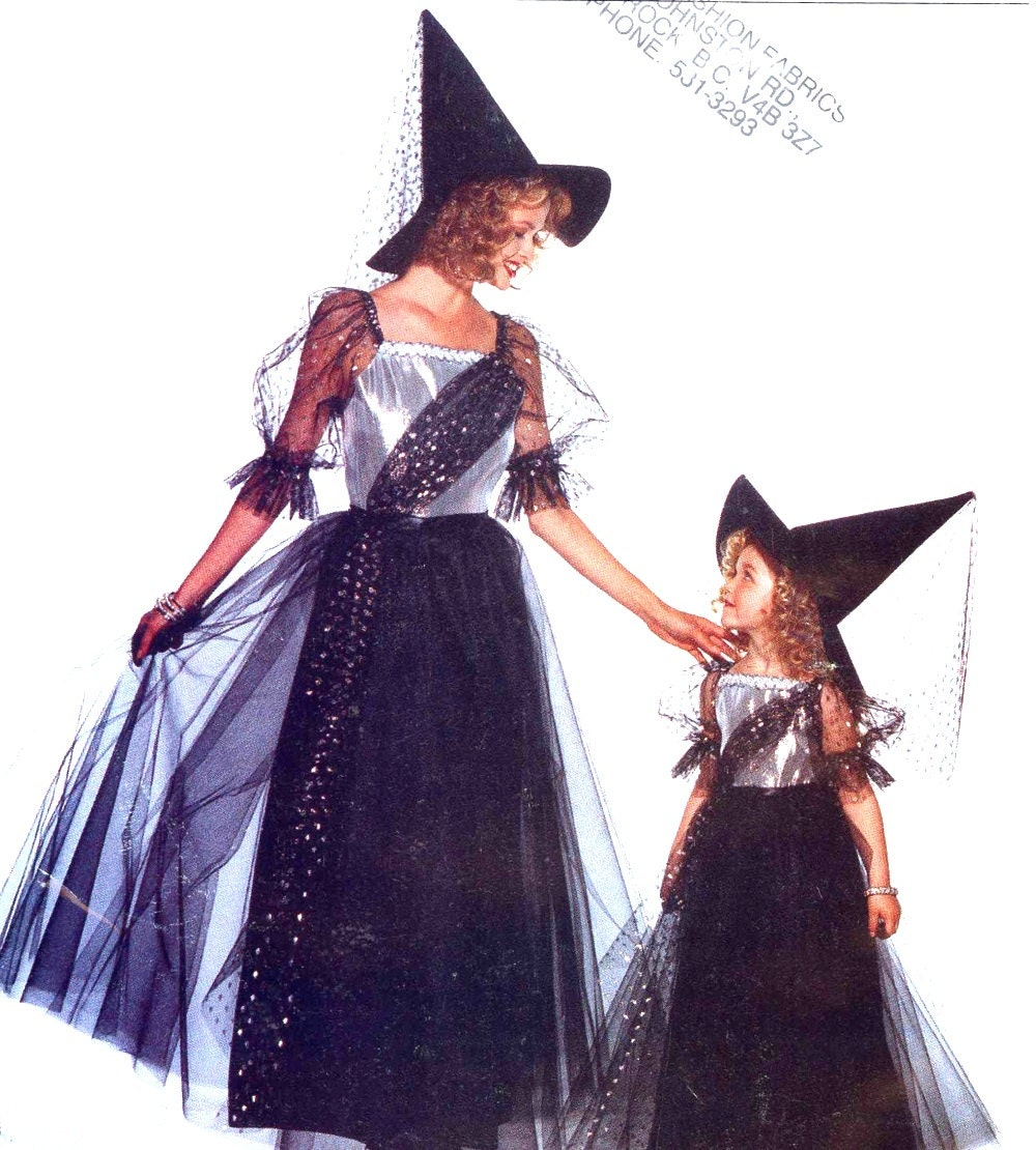 Girls witch costume sewing pattern Butterick 3588 Halloween ...