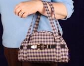Zippered Handbag, Belt Bag, Vintage Style Purse,Pocketbook, Womens Small Handbag,Small Blue Handbag, Bags Made in America,Small Casual Bag