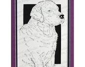 Labrador Retriever Papercutting, Handcut Original,  FINAL EDITION