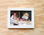 Bacon Olympia - Manet with Bacon - 5x7 Print