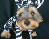 Zebra Dog Jungle Jammies Halloween Costume for Italian greyhounds and all small dogs-custom fit