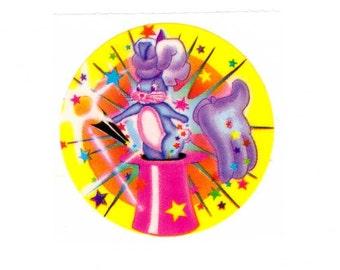Lisa Frank Magicians Rabbit Sticker 80's Vintage 1983 rabbit in a hat