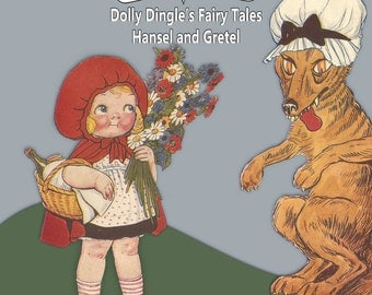 Printable Vintage Paper Doll Dolly Dingle Fairy Tales Red Riding Hood Instant Download