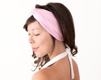 Turban Headband // Turban Hair Wrap // Turband // Fabric Headband // Fashion Turban // Baby Pink