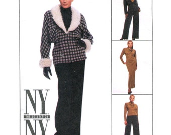 Misses Coordinates Jacket / Cowl Top / Slim Skirt / Pants - NY Collection Sewing Pattern McCalls 8517 - Size 16 Uncut