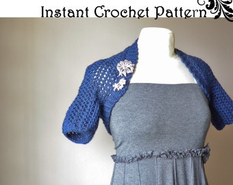 INSTANT DIGITAL PATTERN - Any Size Bolero Easy Crochet Pattern