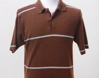 Men's Shirt / Casual Vintage Short Sleeve Polo / Size Small