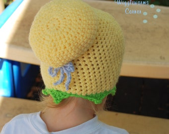 Crocheted Inspired Tinkerbell Hat -Free Shipping in the USA