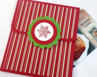 Holiday Gift Card Holder - Christmas Gift Card Holder - Holiday Money Card - Snowflake Holiday Card