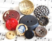 Antique Buttons Cut Steel Rivet, Wallpaper Brass, Sweet Orr Pants, Bone Underwear, Black Glass, Vintage Composition, Red Glass, Leather L24